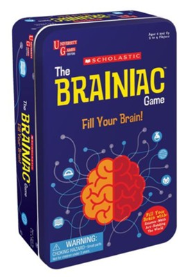 Scholastic The Brainiac Game Tin  -