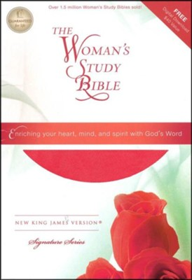 NKJV The Woman's Study Bible, Imitation Leather, Pink/Charcoal  -