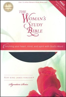 NKJV The Woman's Study Bible, Imitation Leather, Personal Size, Pink/Charcoal  -