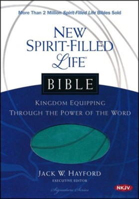 NKJV New Spirit Filled Life Bible, Imitation Leather, Turquoise   -     Edited By: Jack Hayford