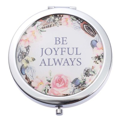Be Joyful Compact Mirror with Box  -