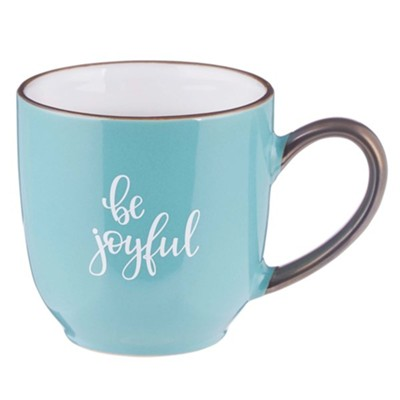 Be Joyful Mug, Teal  -