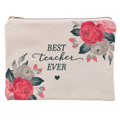 Best Teacher Ever Zipper Pouch  -