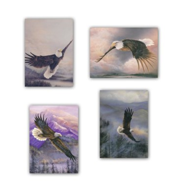 Eagles' Wings Birthday Cards, Box of 12   -     By: Larry Martin