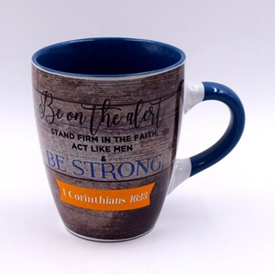 Be Strong Mug  -     By: Blessings Collection