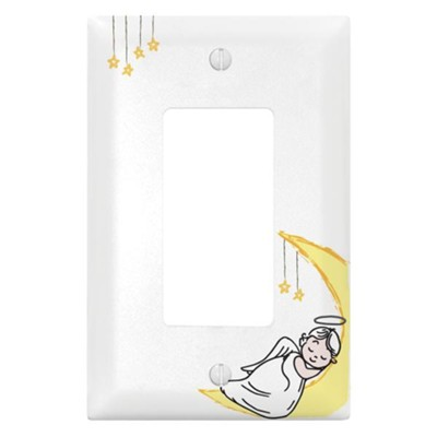 Angel, Moon and Stars, Switch Plate Cover  -