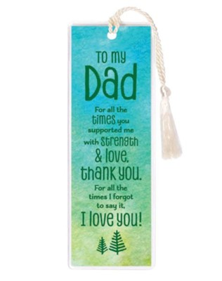 To My Dad Bookmark  -