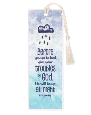 Before You Go To Bed, Give Your Troubles To God Bookmark  -