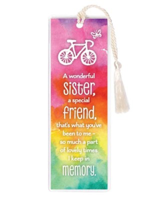 A Wonderful Sister, A Special Friend Bookmark  -