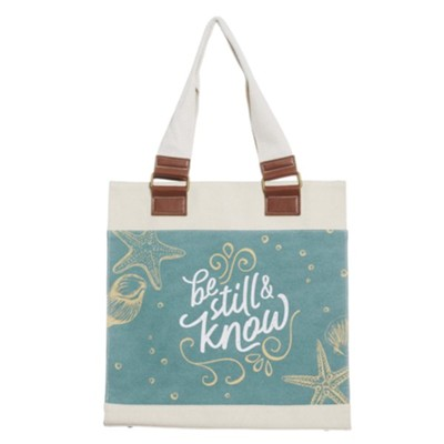 Be Still and Know Canvas Tote  -