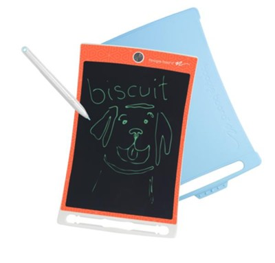 Boogie Board Jot 8.5 LCD eWriter, Geometric Orange with Blue Cover and Stylus  -