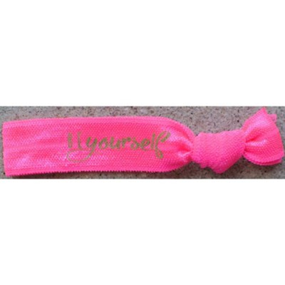 Be Yourself Hair Tie Bracelet, Pink  -