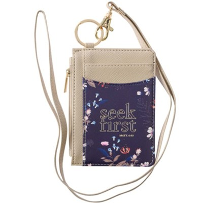 Seek First ID Card Holder With Lanyard  -