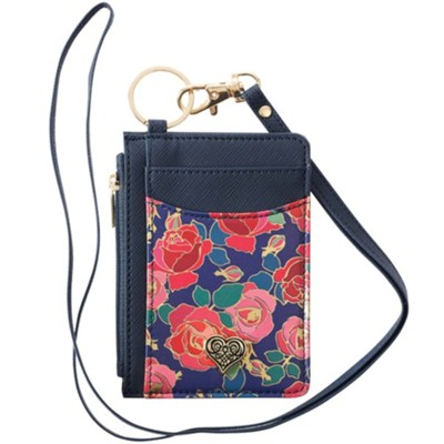 Heart ID Card Holder With Lanyard  -