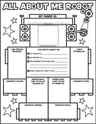 Graphic Organizer Posters: All-About-Me Robot  -     By: Liza Charlesworth