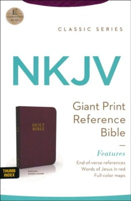NKJV PS GP Eov Ref Bible, Bonded Leather Burgundy Indexed  -     By: Thomas Nelson Publishers