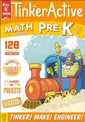 TinkerActive Workbooks: Pre-K Math  -     By: Nathalie Le Du     Illustrated By: Les McClaine