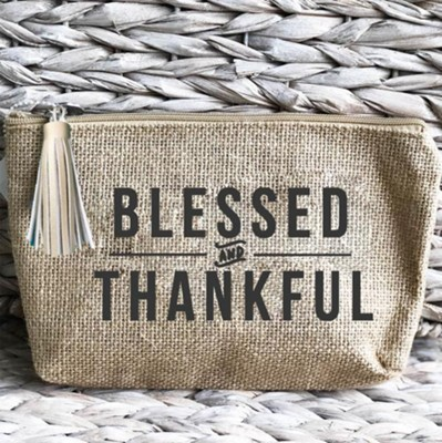 Blessed and Thankful, Pouch  -
