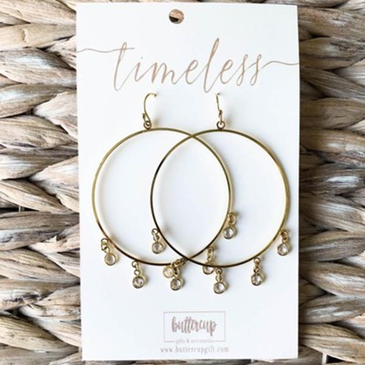 Whitney Hoop Earrings, Gold Plated  -