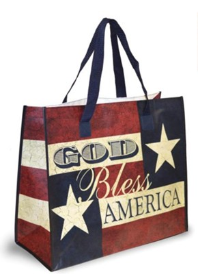 God Bless America Tote Bag, Big Stars  -