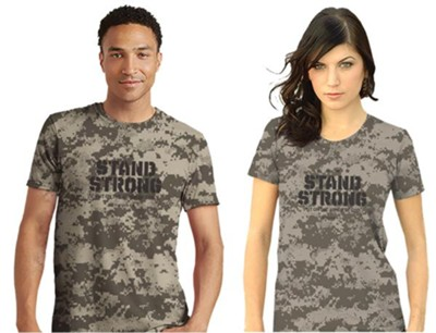 Stand Strong Shirt, Camo Gray, Large, Unisex    -