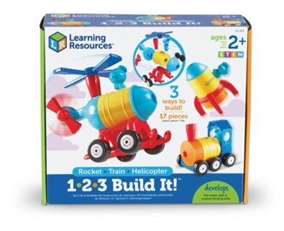 1-2-3 Build It! Rocket, Train, Helicopter   -