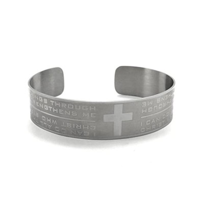 I Can Do All Things, Stainless Steel Cuff Bracelet  -