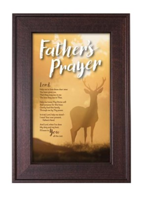 Father's Prayer Framed Art  -