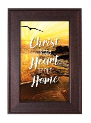 Christ Is the Heart Of Our Home Framed Art  -