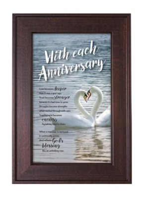 With Each Anniversary Framed Art  -