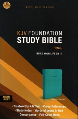 KJV Foundation Study Bible--imitation leather, rich turquoise (indexed)  -