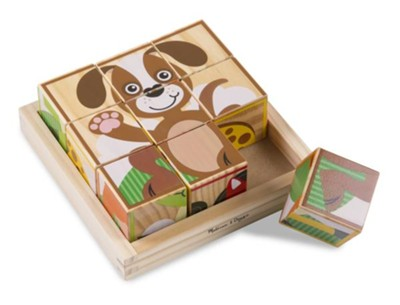 Animals, My First Wooden Cube Puzzle  -