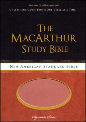 NASB MacArthur Study Bible, Soft Leather-look, Earth Brown/burnt Orange  -     By: John MacArthur