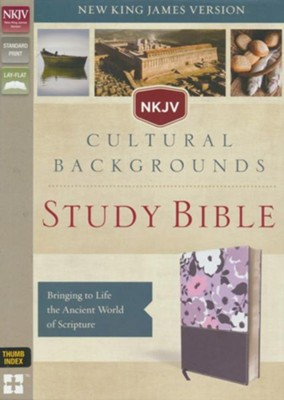NKJV, Cultural Backgrounds Study Bible, Imitation Leather, Purple, Thumb Indexed  -     Edited By: Craig S. Keener, John H. Walton