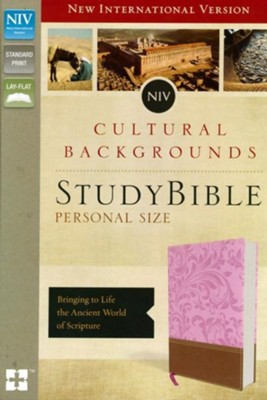 NIV, Cultural Backgrounds Study Bible, Personal Size, Imitation Leather, Pink and Brown  -     Edited By: Craig S. Keener, John H. Walton