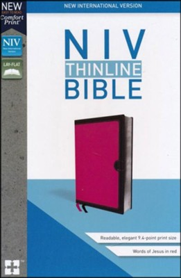 NIV Thinline Bible Pink, Imitation Leather  -