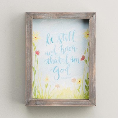 Be Still And Know, Watercolor Framed Art  -