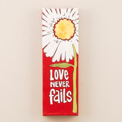 Love Never Fails, Canvas  -