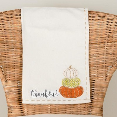 Thankful Pumpkins, Tea Towel  -