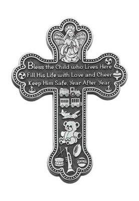 Bless The Child Who Lives Here, Boy, Wall Cross  -