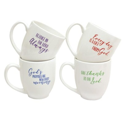 Smile, Joyful, Cheerful, Happy Mug Set  -