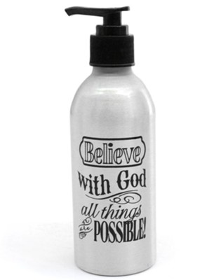 With God, All Things Are Possible, Soap Dispenser  -