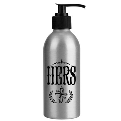 Hers with Cross, Soap Dispenser  -