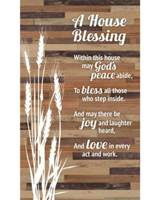 A House Blessing Plaque  -