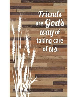 Friends are God's Way Of Taking Care Of Us Plaque  -