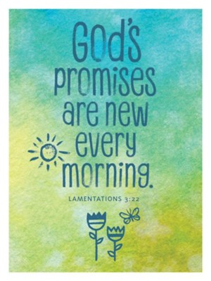 God's Promises Are New Every Morning Magnet  -