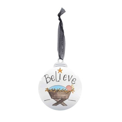Believe Galvanized Ornament  -