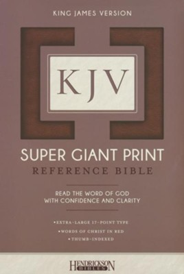 KJV Super Giant Print Reference Bible, flexisoft brown, thumb indexed  -
