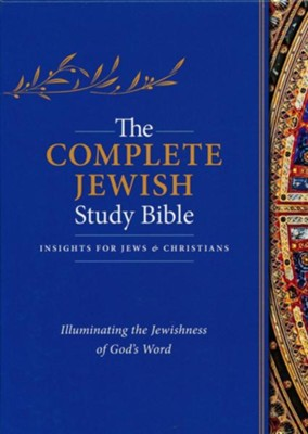 The Complete Jewish Study Bible, Genuine Calfskin Leather  Black, Thumb Indexed  -