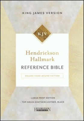 Hendrickson Hallmark Reference Bible, KJV, Large Print, Deluxe Hand Bound, Top Grain Goatskin Leather, Black  -
